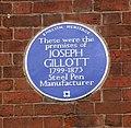 Joseph Gillott blue plaque.jpg