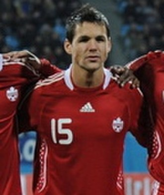 Josh Simpson (soccer) - Simpson with Canada in 2010