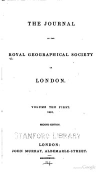 Journal of the Royal Geographical Society of London, Volume 1 (2nd edition).djvu