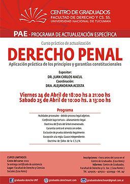 Juan Carlos Nacul charla penal