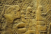 Relief depicting the Judean people being deported by the Assyrians