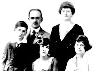 Julius Kahn (inventor) - The Kahn family, 1921