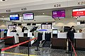 Juneyao Airlines check-in counters at ZBAD (20191027081342).jpg