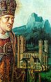 Köln - Anton Woensam - Der heilige Severin von Köln mit Kirchenmodell 1530.jpg