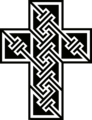 KELLS CROSS 1. Based on a keypattern device in the Book of Kells.png