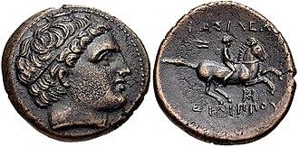 Asander - Image: KINGS of MACEDON. Philip III Arrhidaios. 323 317 BC. Æ Unit (19mm, 4.95 g, 10h). Miletos mint. Struck under Asandros, circa 323 319 BC