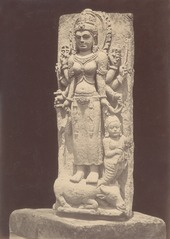 KITLV 87718 - Isidore van Kinsbergen - Sculpture of Durga from the Dijeng plateau - Before 1900.tif