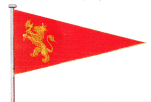 Burgee - Burgee of KNS, The Royal Norwegian Yacht Club, (1884−1904).