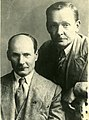 Kanstantyn Mickievič (Jakub Kołas), Jan Łucevič (Janka Kupała). Канстантын Міцкевіч (Якуб Колас), Ян Луцэвіч (Янка Купала) (1935).jpg