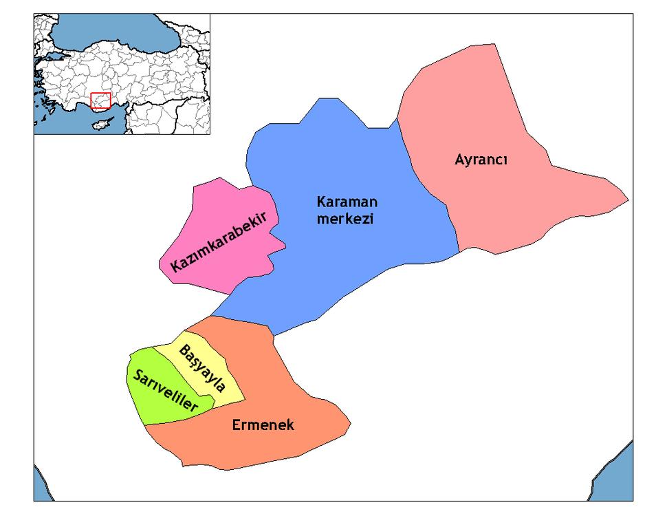 Karaman districts
