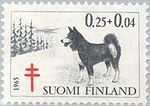Karelian-Bear-Dog-Canis-lupus-familiaris Stamp of Finland 1965.jpg