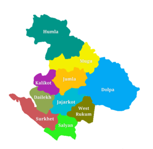 Districts of Karnali Pradesh