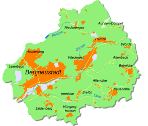 Bergneustadt - Map of the municipality Bergneustadt