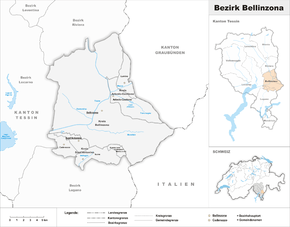 Map of Bellinzona District