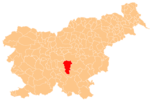 The location of the Municipality of Ivančna Gorica