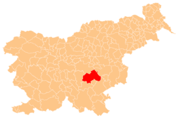 Location of the Municipality of Trebnje in Slovenia