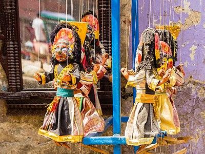 Kathputli (Puppet) near Kathmandu Durbar Square