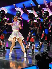 Katy Perry performing during The Prismatic World Tour