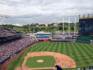 2014 Kansas City Royals season - Royals home game vs. Giants on August 10, 2014. Two months later the Giants would be their World Series opponent.