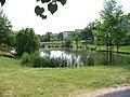 Kbely, Centrální park, nádrž.jpg