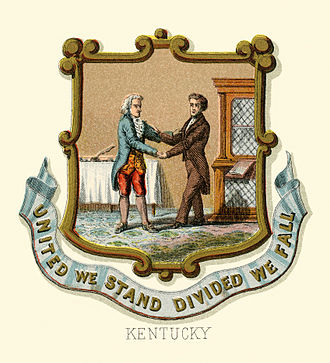 Seal of Kentucky - Kentucky state historical coat of arms (illustrated, 1876)