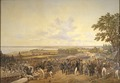 King Carl XIV Johan of Sweden Visiting the Canal Locks at Berg in 1819 (Alexander Wetterling) - Nationalmuseum - 21867.tif