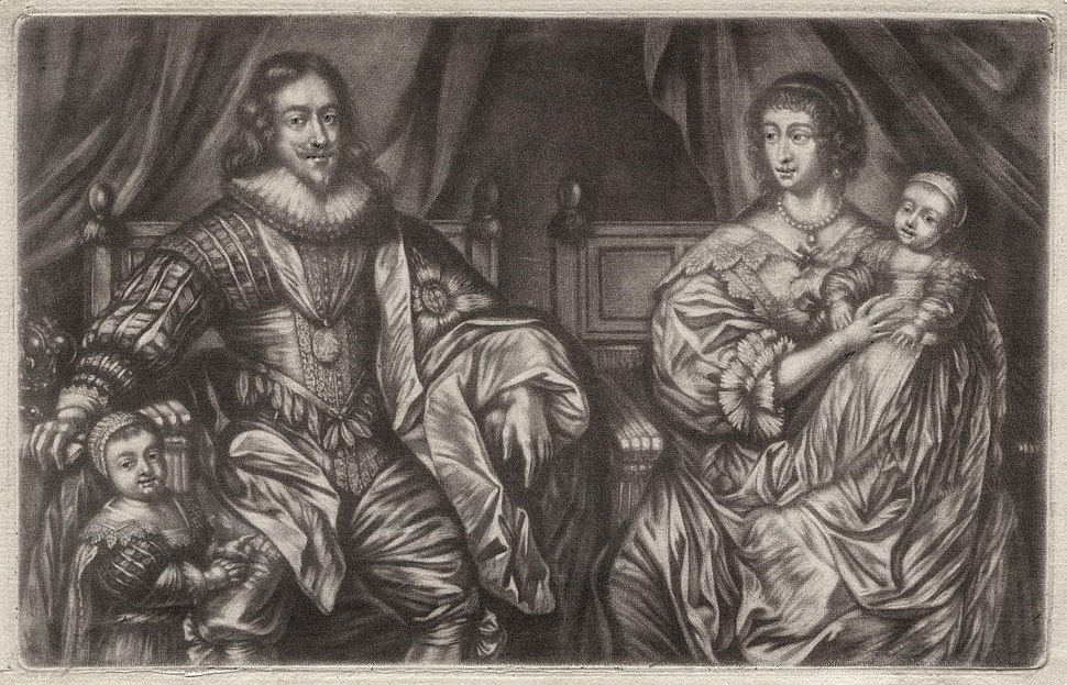 King Charles I; Henrietta Maria; and their two eldest children, King Charles II and Mary, Princess of Orange by Sir Anthony Van Dyck