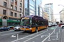 King County Metro XT40 trolleybus on 2nd Ave at Pike St (2015).jpg