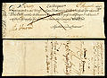 Kingdom of England Exchequer note-5 Pounds (1697).jpg