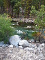Kings Canyon National Park - breached morain near Knapps Cabin.JPG
