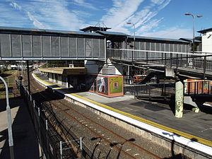 Kingston railway station, Brisbane - Kingston station in July 2012