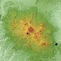 Kirishima Volcano Relief Map, SRTM-1.jpg