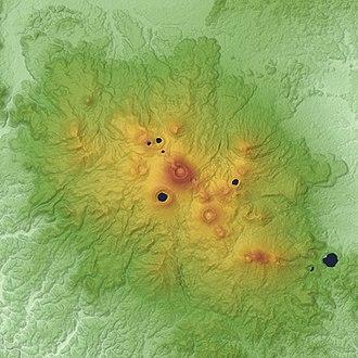 Mount Kirishima - Relief map of Kirishima Volcano