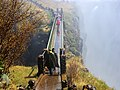 Knife edge bridge over a chasm at the Victoria Falls.jpg