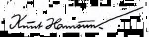 Knut Hamsun - Image: Knut Hamsun signatur 1940