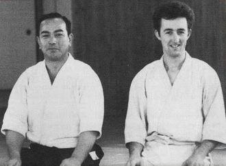 Alan Ruddock -  Ruddock with Koichi Tohei Sensei in Iidabashi dojo (photo by Henry Kono)