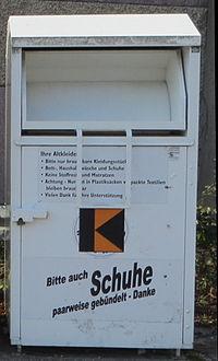 Altkleider-Container, Kolping, Farbe:weiß