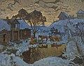 Konstantin Gorbatov - Village. Winter Twilight.jpg