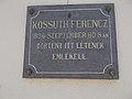 Kossuth Ferencz emléktábla, Szabolcska Mihály utca 2, 2017 Abony.jpg