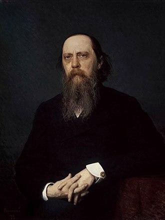 1879 in art - Image: Kramskoj saltykov schedrin