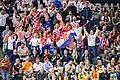 Kroatische Fans sorgen für Stimmung Köln Arena Handball WM 2019 (47875924131).jpg