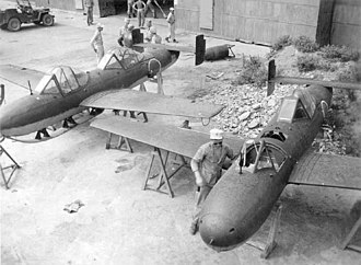 Yokosuka MXY-7 Ohka - Model 43 K-1 Kai rocket assist trainers, note the landing skid