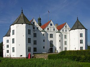 Glücksburg Castle - View from the courtyard