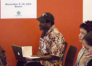 Kwaku BBM at the Wikimedia Diversity Conference