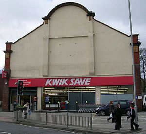 Kwik Save - A Kwiksave branch trading in Pudsey, West Yorkshire in 2007.