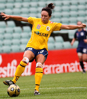 Kyah Simon - Simon playing for the Central Coast Mariners