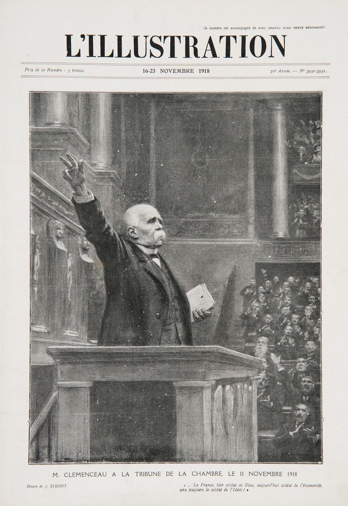 Fichier:L'Illustration - Clemenceau à la tribune le 11 novembre 1918.jpg — Wikipédia