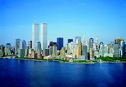LOC Lower Manhattan New York City World Trade Center August 2001.jpg