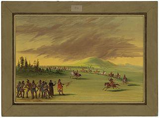 La Salle Meets a War Party of Cenis Indians on a Texas Prairie.  April 25, 1686