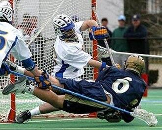 National symbols of Canada - Image: Lacrosse dive shot